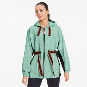 Puma x First Mile Women's Training Anorak Women's Jacket, Mist Green/Black, size Medium, Clothing