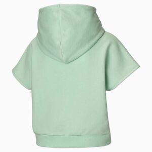 Puma Short Sleeve Women's Hoodie,  Mist Green, size Medium, Clothing