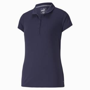 Puma Fusion Mesh Women's Golf Polo Shirt, Peacoat, size X Large, Clothing