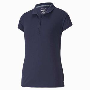 Puma Fusion Mesh Women's Golf Polo Shirt, Peacoat, size Large, Clothing
