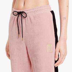 Puma x Charlotte Olympia Tailored For Sport Women's Track Pants, Silver Pink, size Medium, Clothing