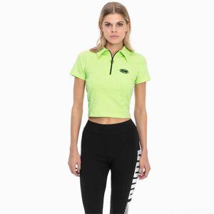 Puma Tech Clash Contour Women's Top Shirt,  Sharp Green, size Medium, Clothing