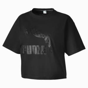 Puma Summer Luxe Style Women's T-Shirt, Cotton Black, size X Small, Clothing