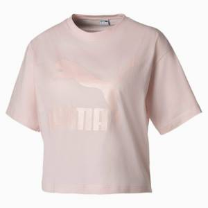 Puma Summer Luxe Style Women's T-Shirt, Rosewater, size X Small, Clothing
