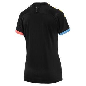 Puma Man City Short Sleeve Women's Away Replica Jersey, Black/Georgia Peach, size Medium, Clothing