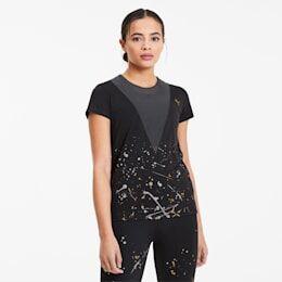 Puma Metal Splash Deep Women's Training T-Shirt in Black size X Small