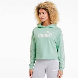 Puma Cropped Women's Training Hoodie,  Mist Green, size 2X Small, Clothing