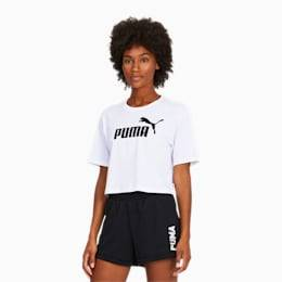 Puma Essentials+ Cropped Women's T-Shirt in White size Large