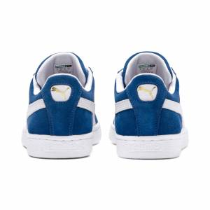 Puma Men's PUMA Suede Classic+ Trainers, Olympian Blue/White, size 5, Shoes