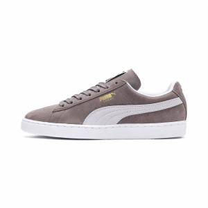 Puma Men's PUMA Suede Classic+ Trainers, Steeple Grey/White, size 11, Shoes
