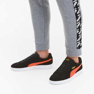 Puma Women's PUMA Smash V2 Trainers, Black/Hot Coral/Gold, size 5, Shoes