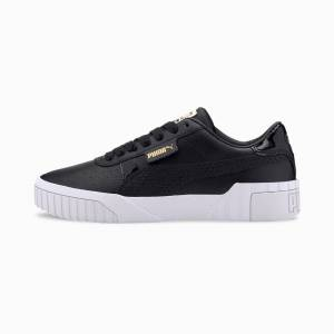 Puma Cali Snake Women's Trainers, Black/Gold, size 5, Shoes