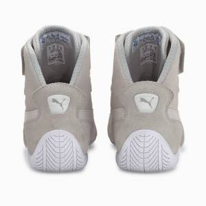 Puma Women's PUMA SpeedCat Sparco Mid Trainers, Grey Violet/White/Gold, size 9, Shoes