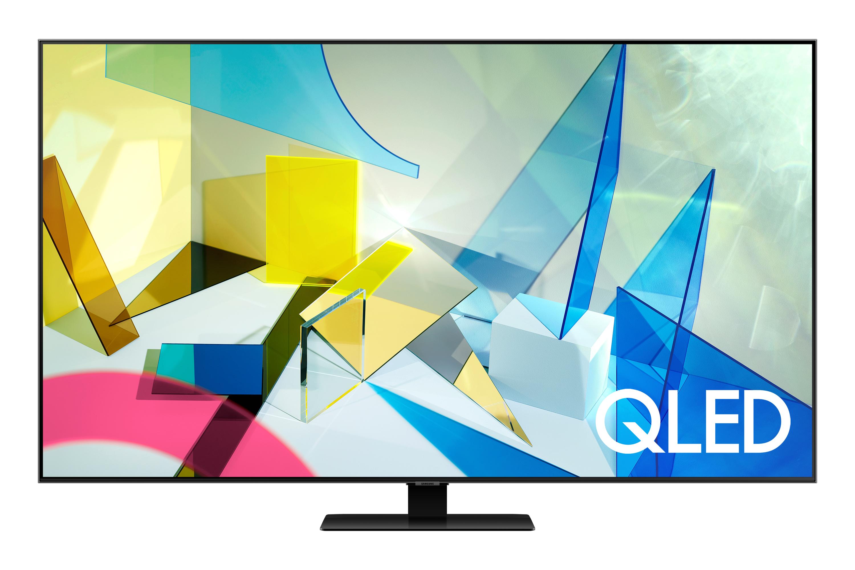 "Samsung 2020 55"" Q80T QLED 4K HDR 1500 [1000] Smart TV with Tizen OS Silver (QE55Q80TATXXU)"