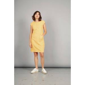 Komodo FIRE DANCE Organic Cotton Dress Amber, Size 1 / UK 8 / Eur 36