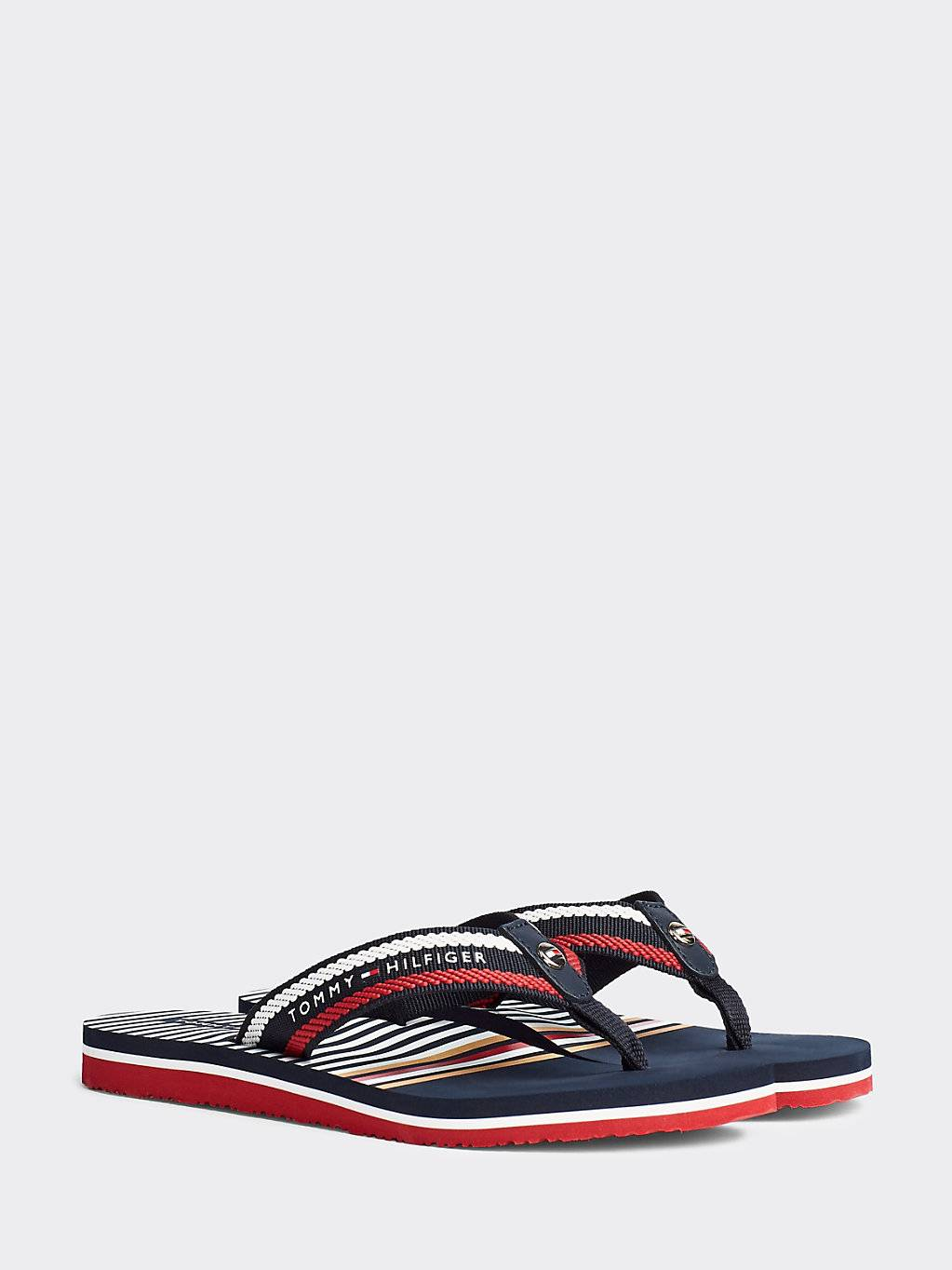 Tommy Hilfiger Signature Rope Embroidery Flip-Flops UK7.5
