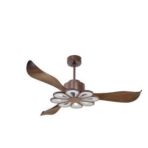 KlassFan Modulo by KlassFan - DC Ceiling Fan with Light , colour wood, ideal for 25 to 40 m² KL_DC2_P2Wo_L4Wo