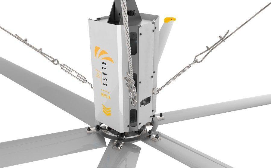 KlassFan HVLS AC Stator OM-KQ-4E 220V. Industrial ceiling fan 16ft/4.9m. Ultraefficient desing 850sqm coverage.