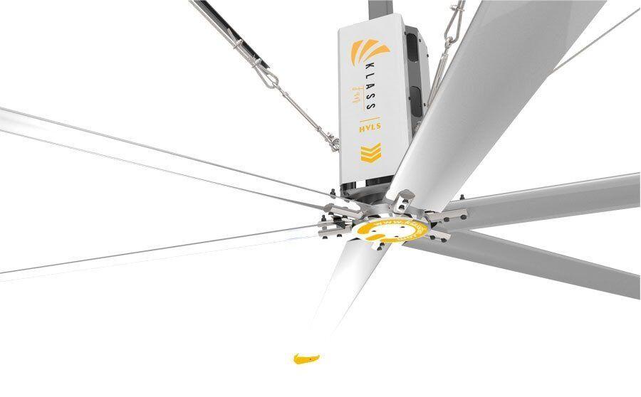 KlassFan HVLS AC Stator OM-KQ-5E 220V. Industrial ceiling fan 18ft/5.5m. Ultraefficient desing 1080sqm coverage.