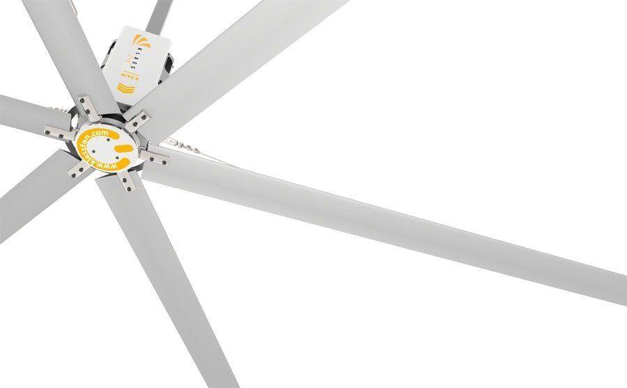 KlassFan HVLS AC Stator OM-KQ-7E 220V. Industrial ceiling fan 24ft/7.3m. Ultraefficient desing 1800sqm coverage.