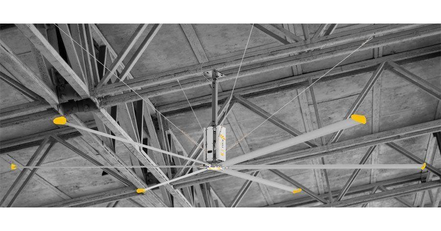KlassFan HVLS AC Stator OM-KQ-5E 380V. Industrial ceiling fan 18ft/5.5m. Ultraefficient desing 1080sqm coverage.