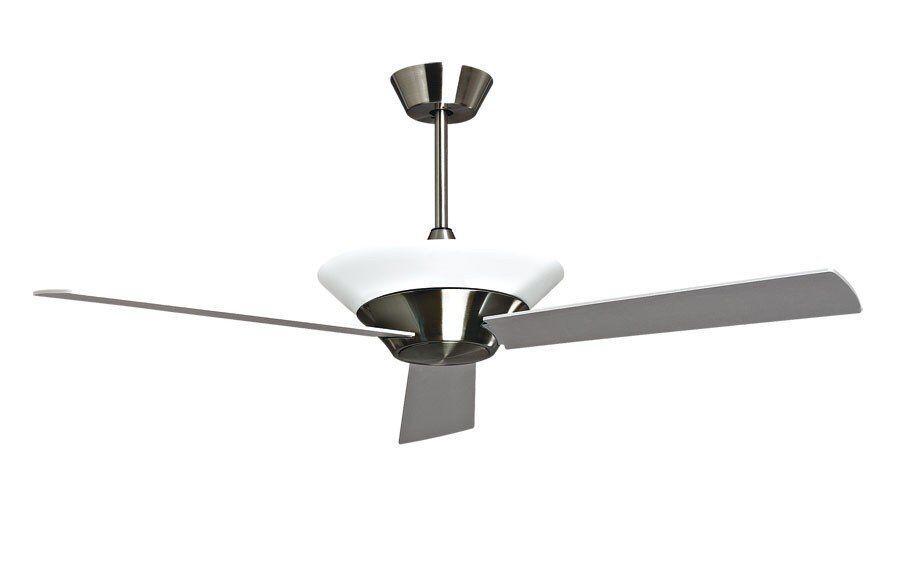 "KlassFan Designer ceiling fan limited series 132cm / 59.8"" brushed chrome, remote control and indirect light"