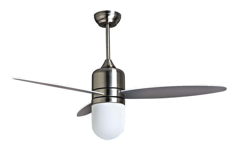"KlassFan Designer ceiling fan limited edition 122cm/48"" brushed chrome, remote control and powerful lighting, by KlassFan"
