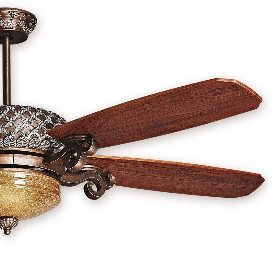 KlassFan Ceiling Fan, St. Pepeo RB, aged bronze blades cherry / walnut, a marvel of unparalleled classic style.