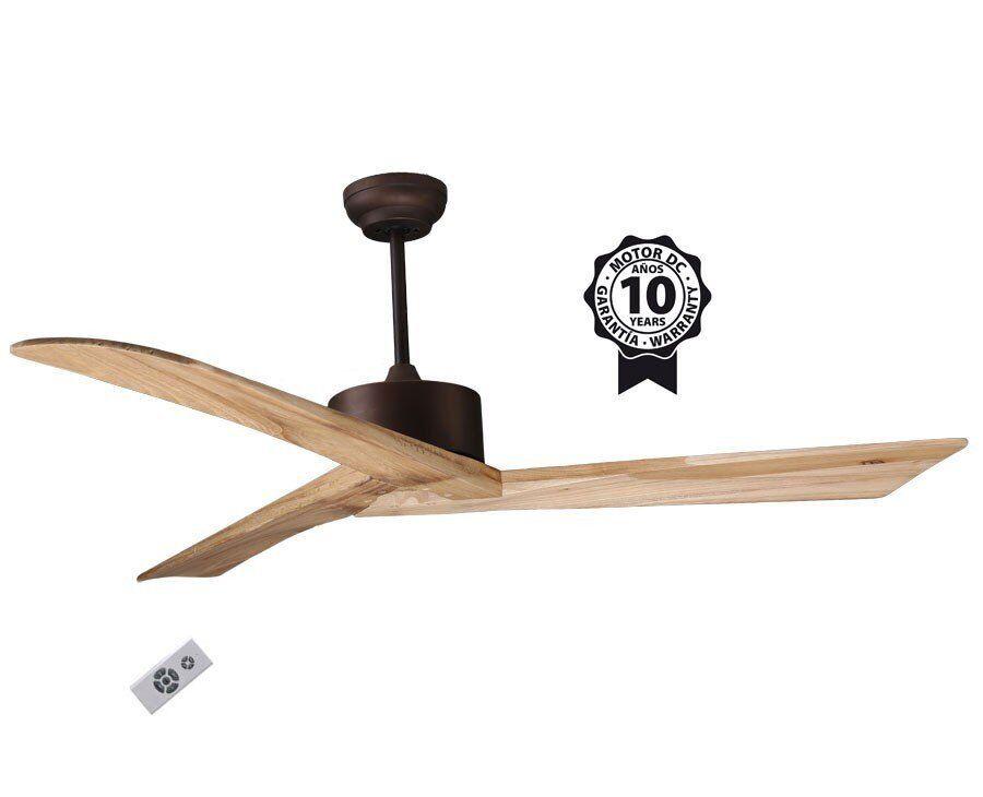 """KlassFan Ceiling Fan DC Motor, 152 cm/59.8"""" Solid Wood Blades, Ultra Quiet, Klassfan RACINE"""