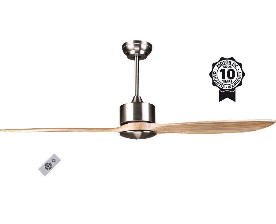 "KlassFan DC Motor Ceiling Fan, 132 cm / 51.9"" Solid Wood Blades, For Large Rooms, Ultra Quiet Parts, Klassfan BOUSSOLE"