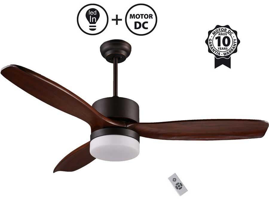 "KlassFan DC Motor Ceiling Fan, 132 cm / 51.9"" Solid Wood Blades, LED Light, For Large Ultra Quiet Parts, ARIME KlassFan"