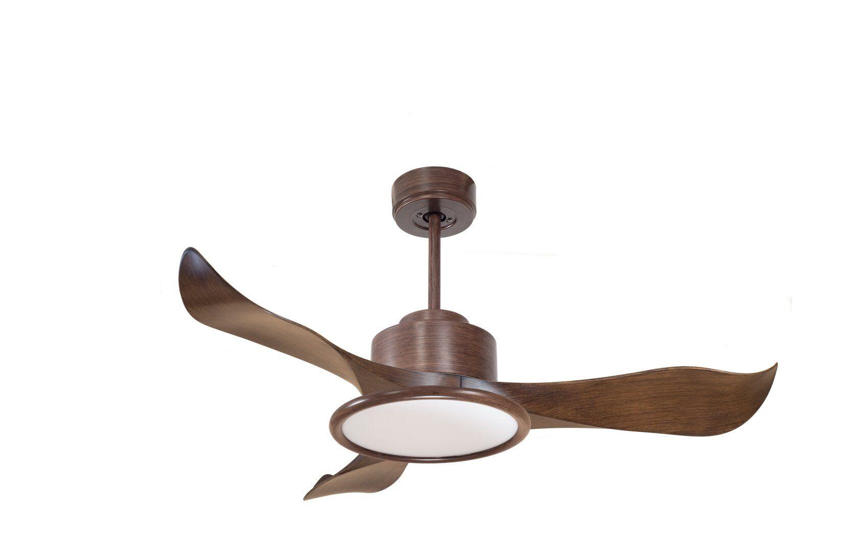 KlassFan Modulo KlassFan - Super destratification fan, wood color with light, ideal for 40 to 60 m² DC2_P1Wo_L2Wo