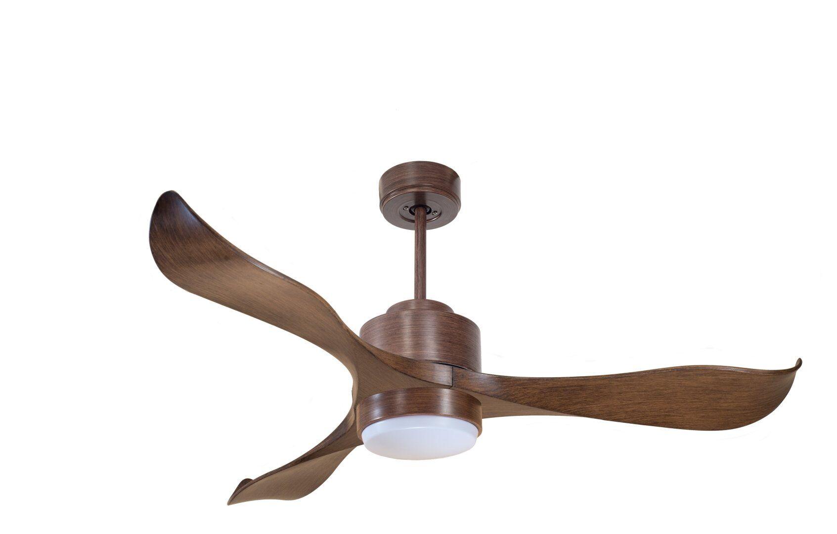 KlassFan Modulo by KlassFan - DC Ceiling Fan with Light, colour wood, deal for 25 to 40 m² KL_DC2_P2Wo_L1Wo
