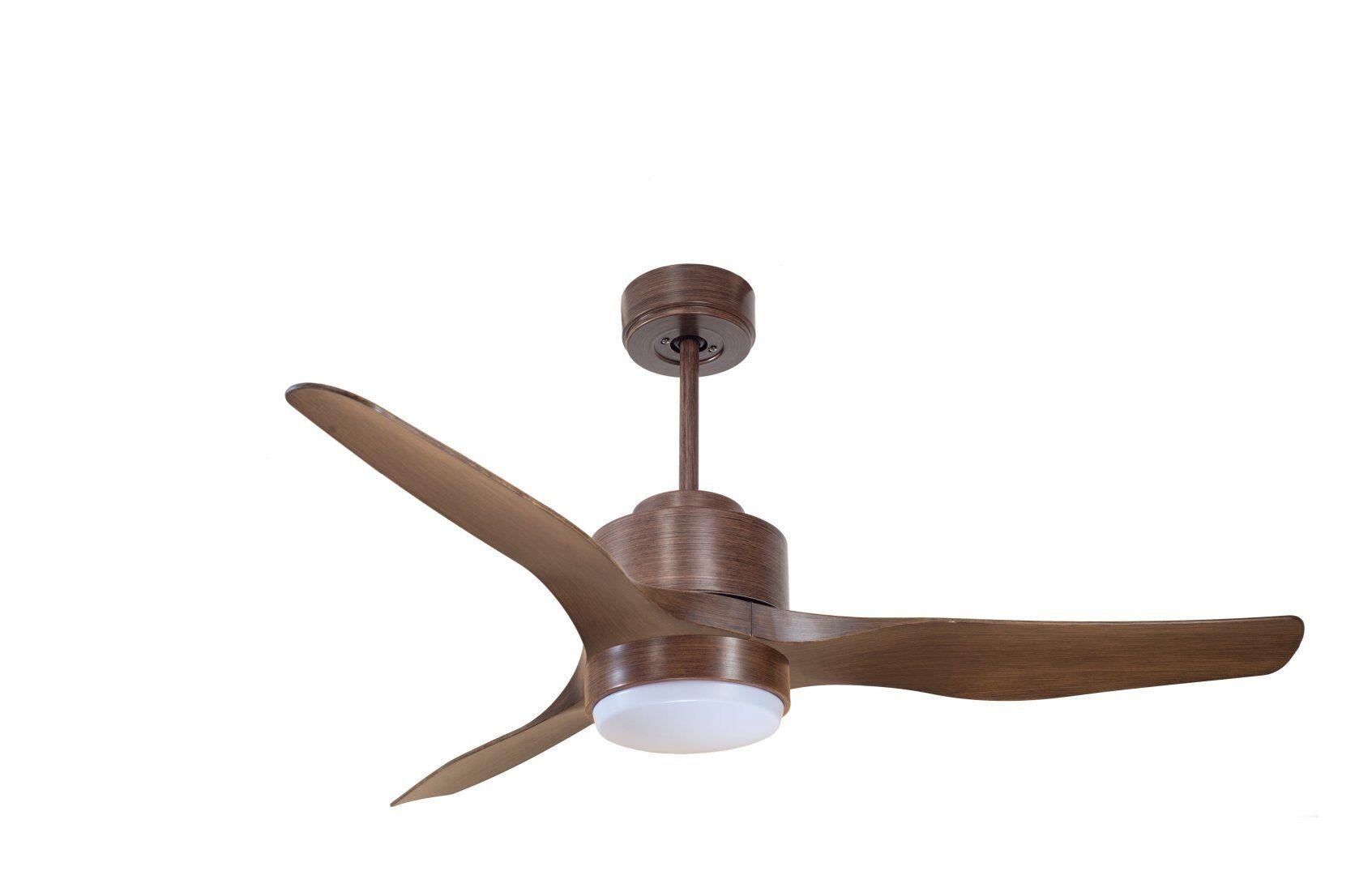 KlassFan Modulo by KlassFan - DC Ceiling Fan With Light, colour wood, ideal for 25 to 40 m² KL_DC4_P2Wo_L1Wo