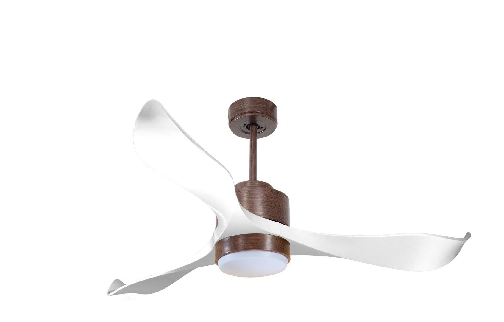 KlassFan Modulo by KlassFan - DC Ceiling Fan with Light Wood and white ideal for 25 to 40 m² KL_DC2_P2Wi_L1Wo
