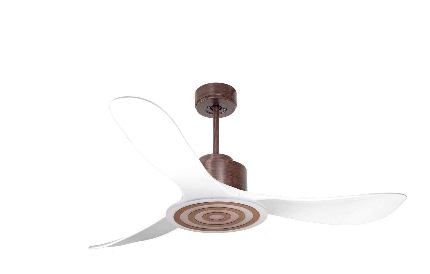 KlassFan Modulo by KlassFan -Super air destratification fan with Light white and wood ideal for 70 -90 m² KL_DC2_P3Wi_L3Wo