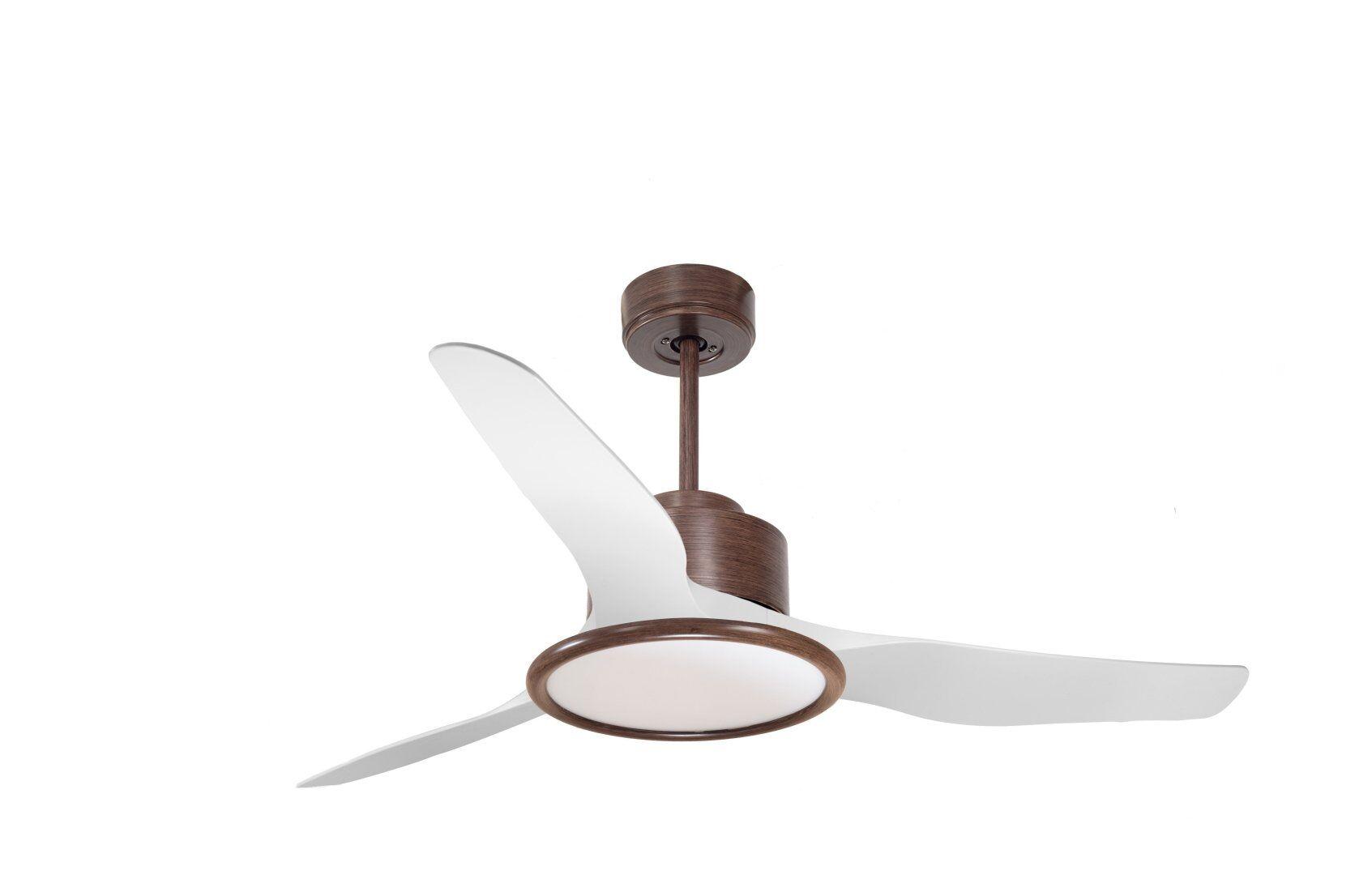 KlassFan Modulo by KlassFan - Super air destratification fan, Light,  White lacquered and wood, for 25 to 40 m² KL_DC200_P4Wo_L2Wo