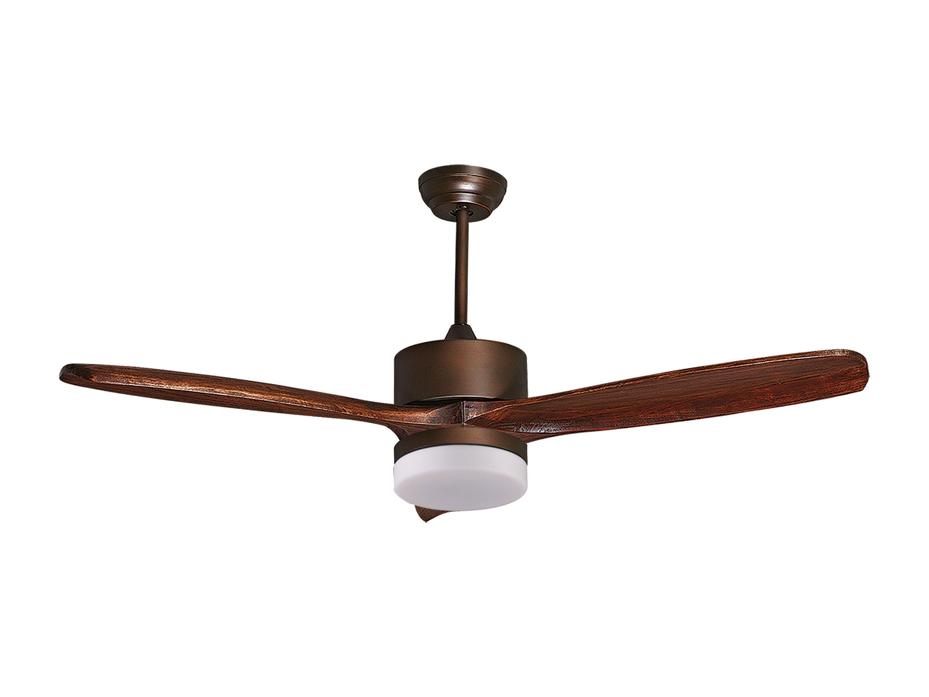 KlassFan Purline by Klassfan, Hegoa DC Light a destratification ceiling fan blades solid wood 51.9in aged copper motor