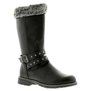 Miss Riot Shiloh Girls Black Boots, Size: 4  - Black - Size: 4