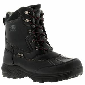 Karrimor Snow Casual 3 Mens Black Leather Walking Hiking Boots, Size: 12  - Black - Size: 12