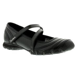 Skechers Riboneer Ladies Black Comfortable Hook & Loop Trainers, Size: 7  - Black - Size: 7
