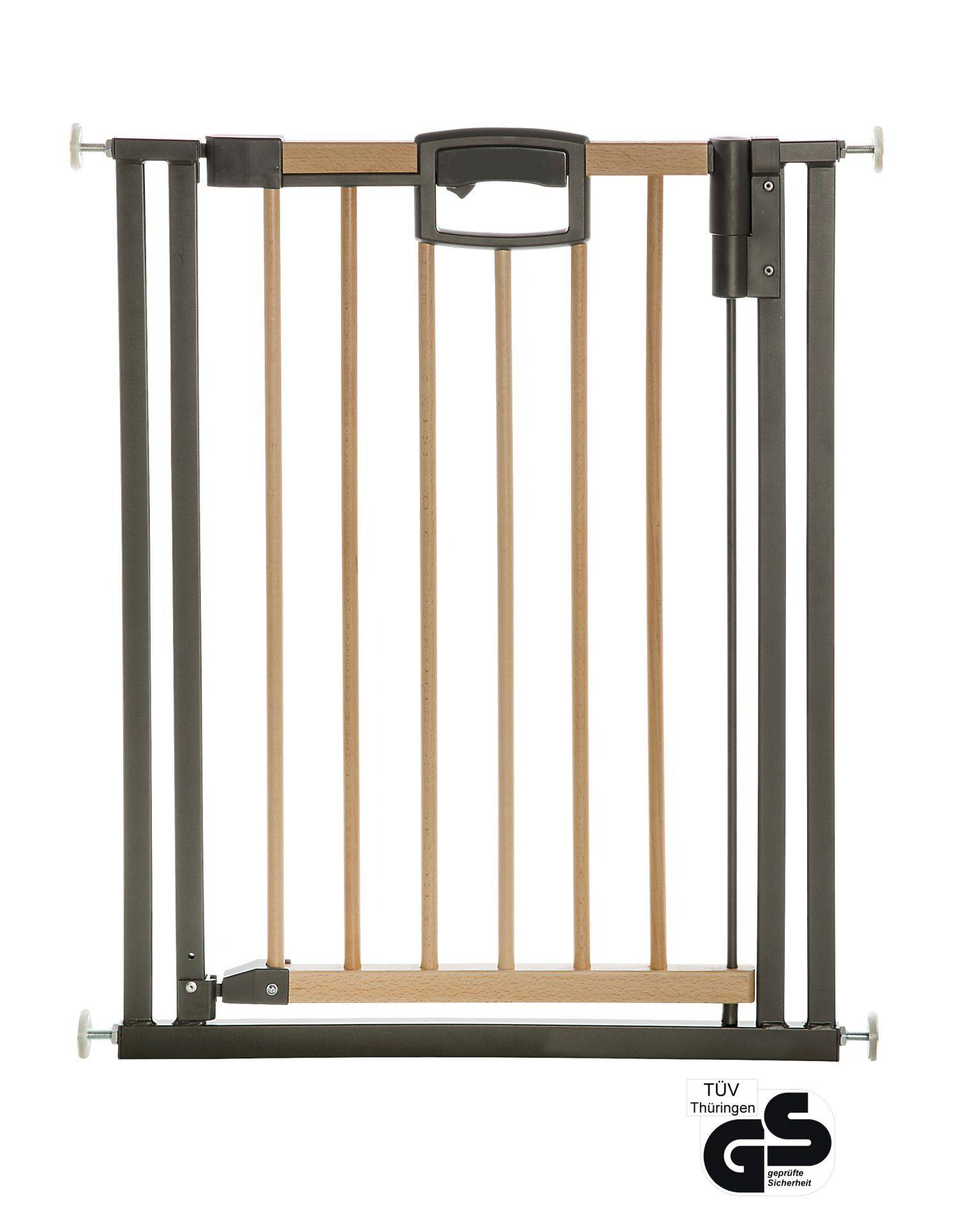Geuther Easylock Wood Plus door protection gate and stair gate; Natur/Anthrazit