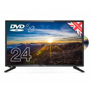 Cello C2420FS 12V 24 Inch HD Ready LED Digital 12V TV with Built-in DVD Player & Satellite Tuner new 2020 model