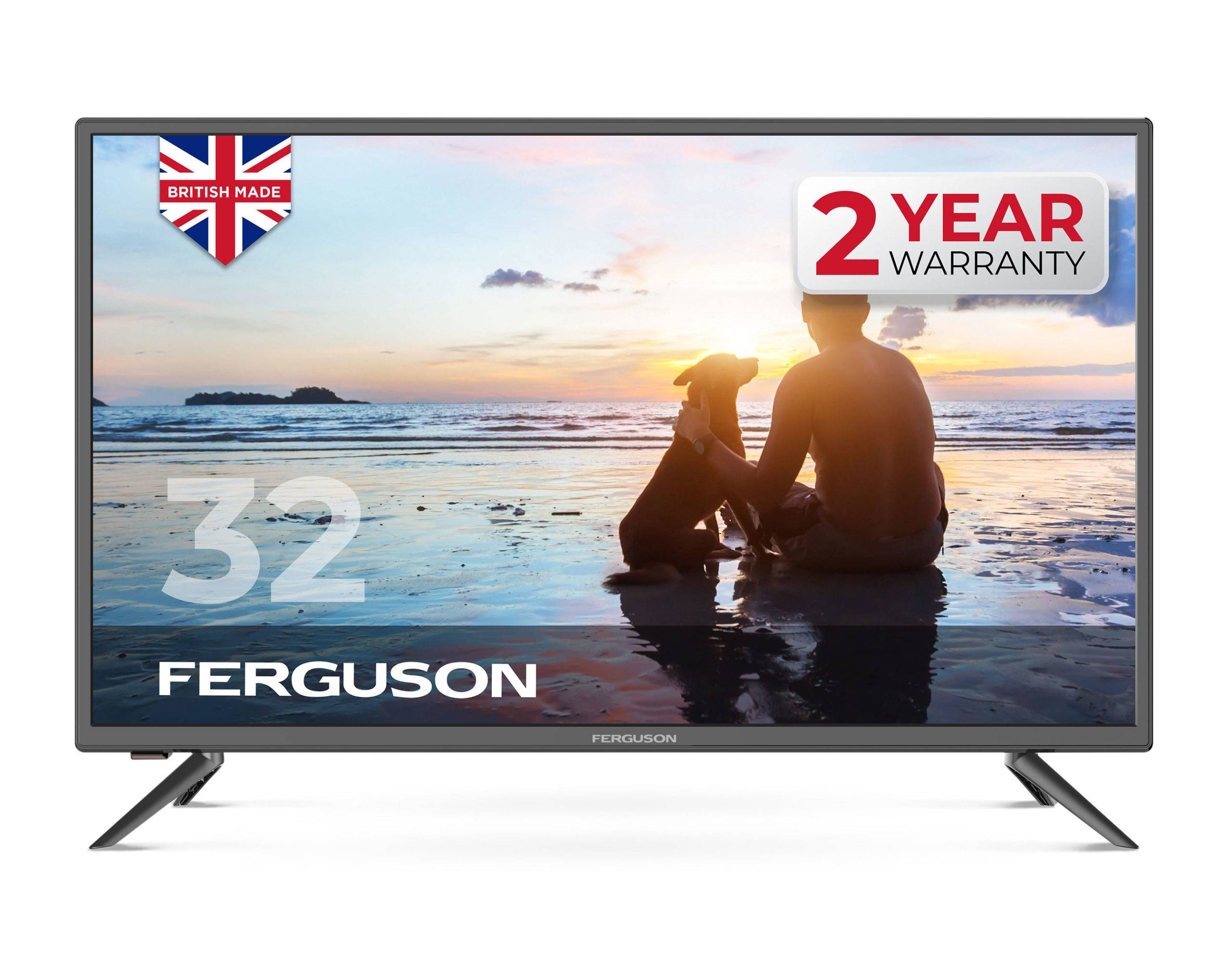 "Ferguson 32"" HD Ready LED TV with Freeview T2 HD new 2020 model"