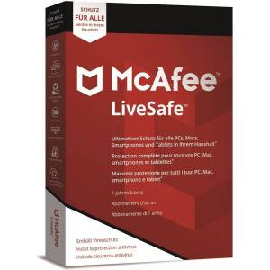 McAfee LiveSafe 2020 3 Devices 1 Year