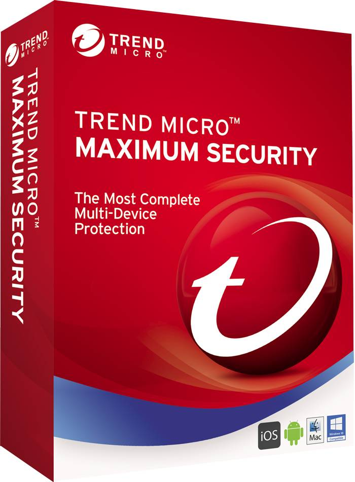 Trend Micro Maximum Security 2020 Multi Device MAC Windows Android IOS 5 Devices 2 Years