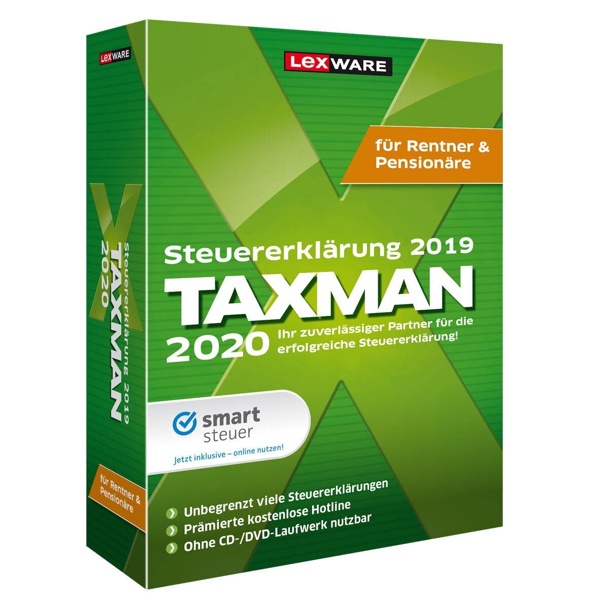 Lexware Taxman 2020 for pensioners and retirees download