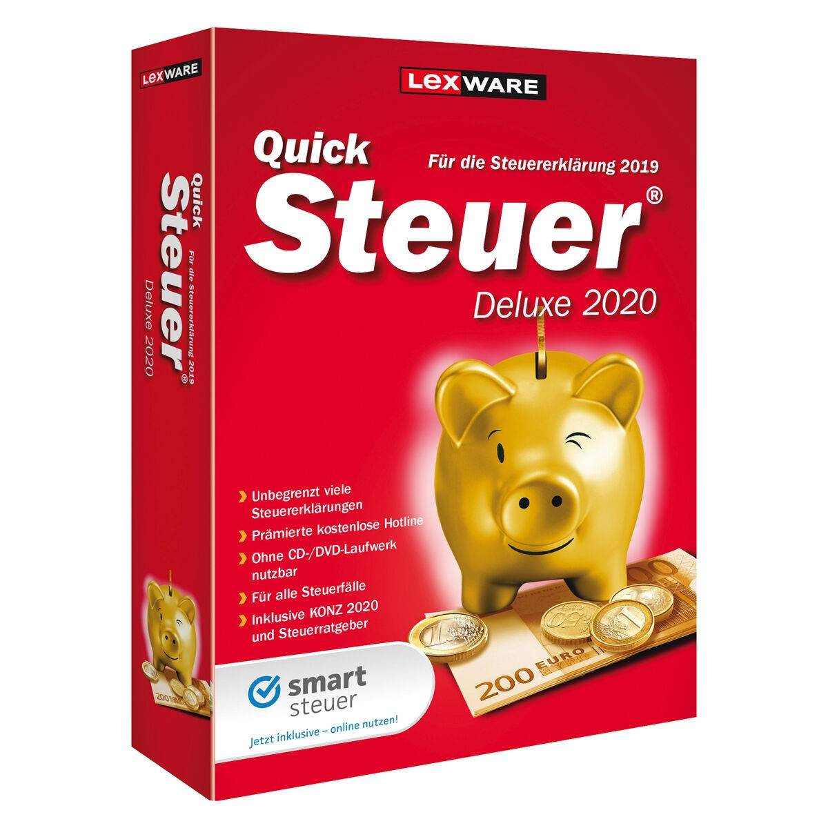 Lexware QuickSteuer Deluxe 2020 for the tax return 2019 Download