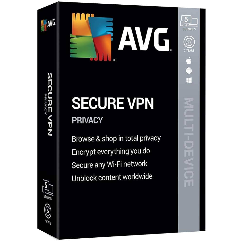 AVG Secure VPN 2020 1-2 years download 10 Devices 2 Years