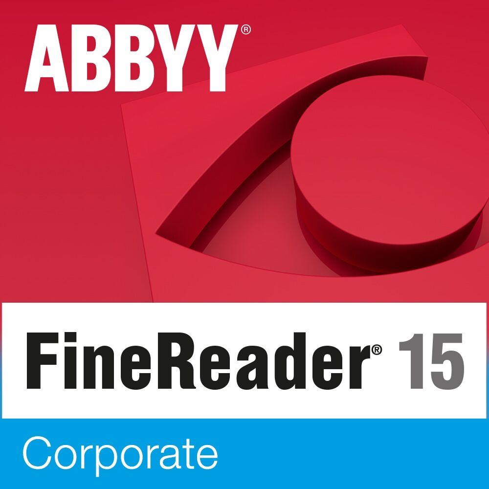 Abbyy FineReader 15 Corporate 1 User WIN Full Version Download